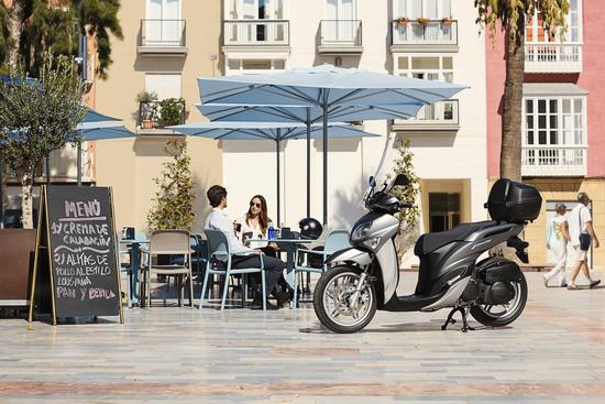 La città è il suo habitat ideale, grazie alle ruote alte ed alla ciclistica adeguata