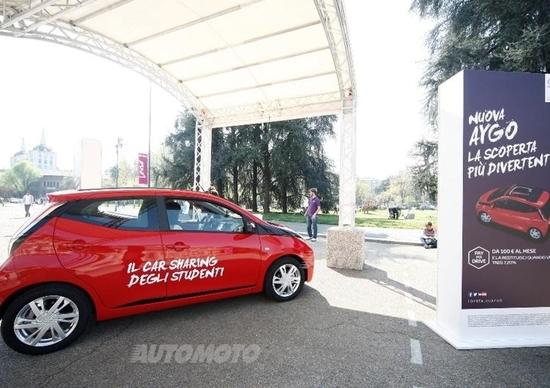 Toyota Aygo Fun Sharing, il car sharing gratuito per gli studenti del PoliMI