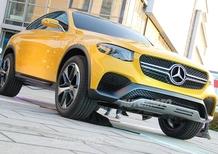 Mercedes GLC Coupé concept: l'anti-X4 si lascia ammirare in Italia