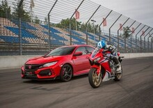 Nuova Honda Civic Type R + CBR 1000RR SP 2017 [Video Test in pista]