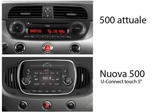 Fiat 500 restyling: ecco in anteprima la nuova plancia
