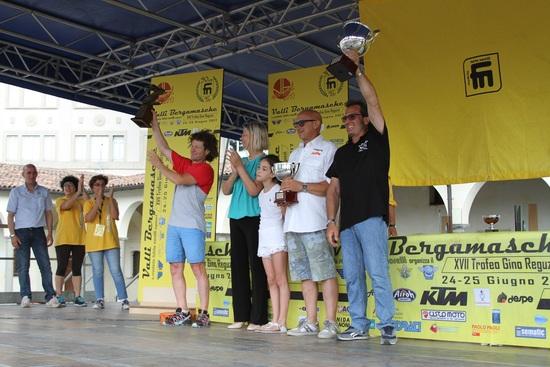 La premiazione della Assoluta: Stefano Passeri, Fabio Fasola e Luca Murer