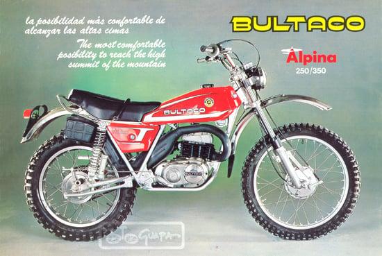 Pubblicità Bultaco Alpina prima serie