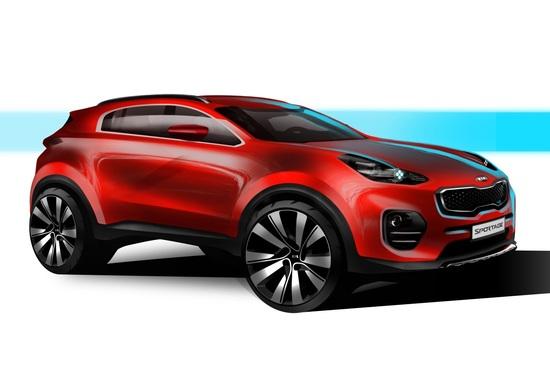 Kia Sportage, ecco i primi disegni della quarta generazione