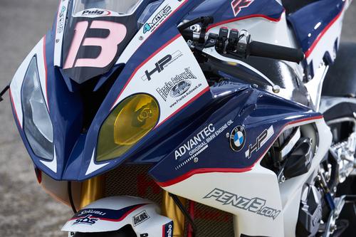 Fari con lampadine da 200W sulla S1000RR del team BMW Motorrad France