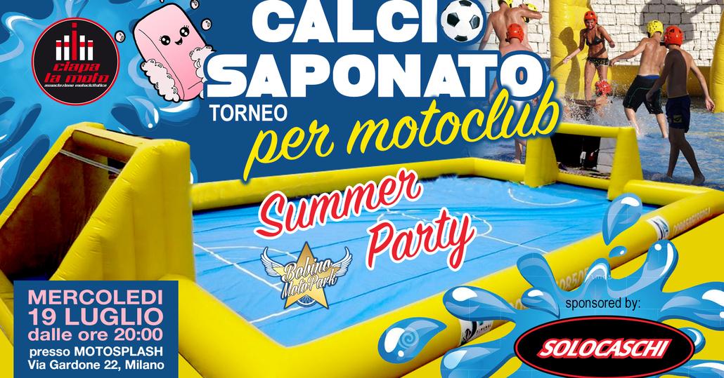 Calcio saponato per Motoclub, mercoledì da Ciapa la Moto