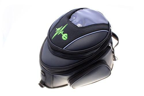 La borsa da serbatoio in posizione compressa