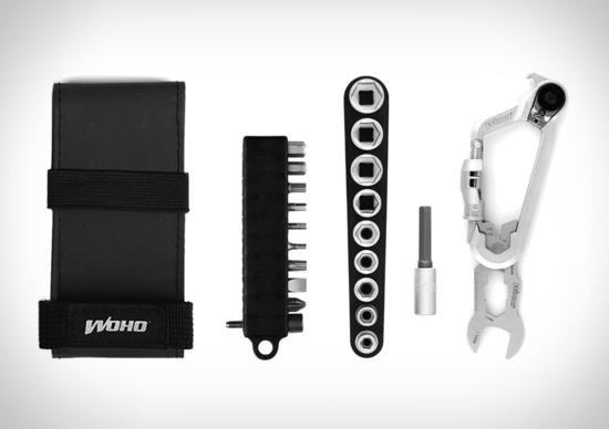 WOKit 2.0 Cycling Kit, il moschettone che si trasforma in cassetta degli attrezzi