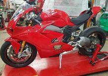 Ducati Panigale V4: ancora foto rubate