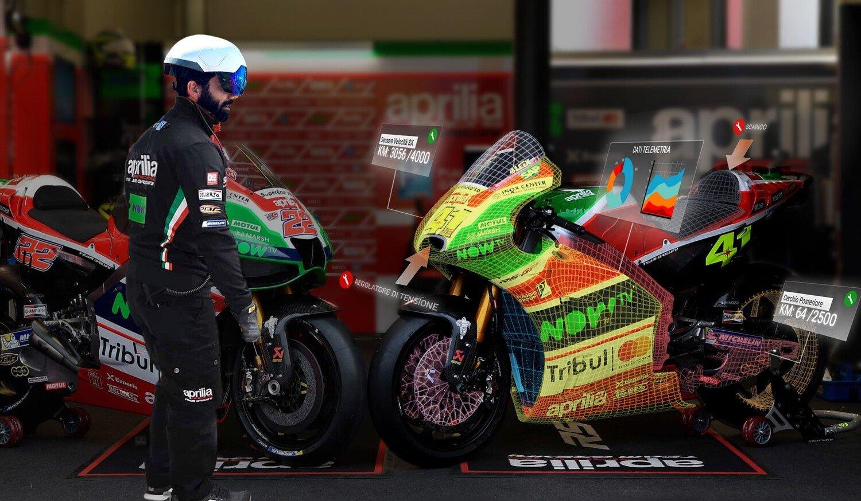 MotoGP. Nel box Aprilia con la realtà aumentata