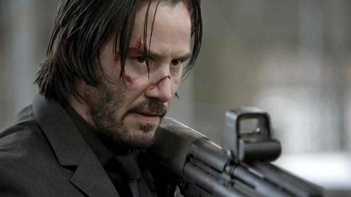 Reeves in una scena di John Wick