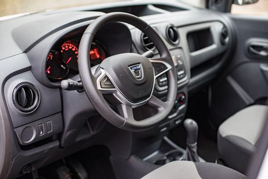 Internamente Dacia Dokker Pickup 2017 è analogo al classico Van Dokker
