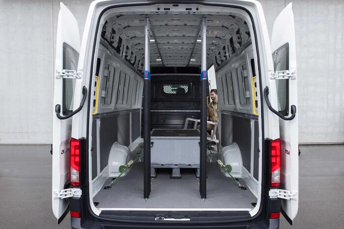 Il furgone ha un vano ampio, regolare e con la soglia di carico abbassata di 10 cm rispetto a prima