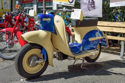 Un pezzo davvero unico è questo Alpino Scooter 150. Il modello non è mai entrato in produzione di serie e questo è l'unico esemplare esistente