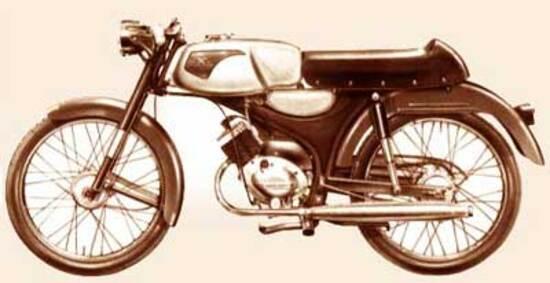 Moto Guzzi Dingo in una foto dell'epoca