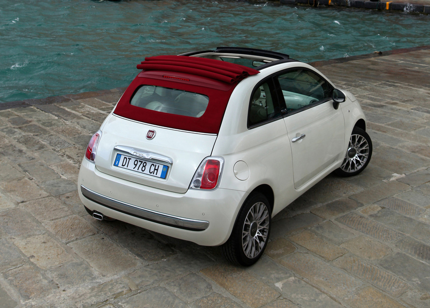 fiat 500 cabrio 1 2 s 12 2012 09 2013 prezzo e scheda tecnica. Black Bedroom Furniture Sets. Home Design Ideas