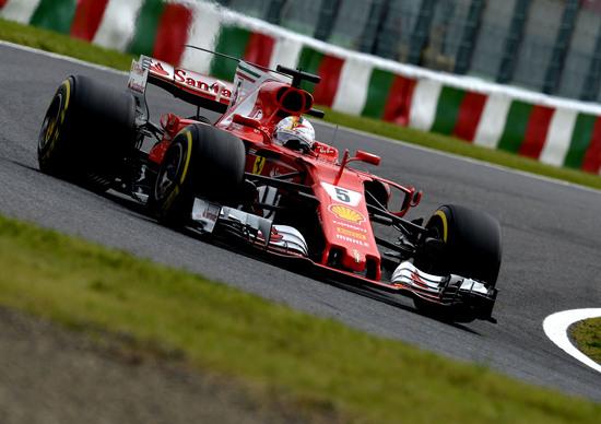 Gp del Giappone, Vettel il più veloce nelle prove libere