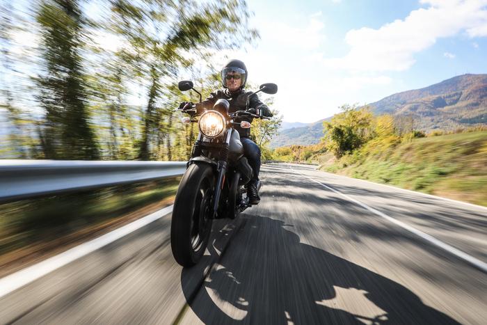 L'uso turistico è quello elettivo per la Moto Guzzi V7