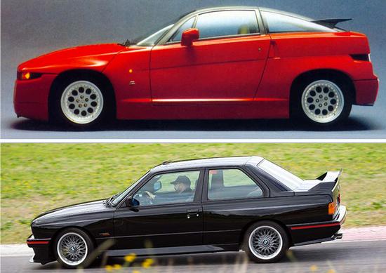 Cinque lustri fa, Confronto: ES30 Vs E30, ovvero Alfa Romeo SZ Vs BMW M3