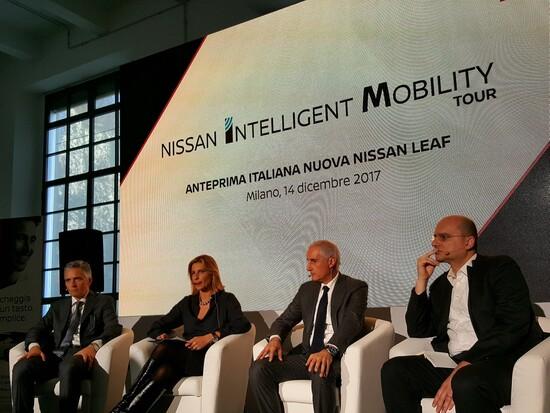 La presentazione nazionale Nissan Leaf 2018 a Milano