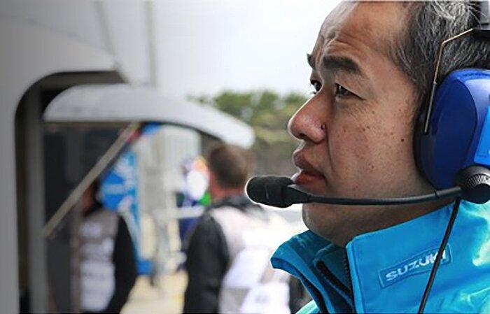 Shinichi Sahara in MotoGP ai tempi della GSV-R