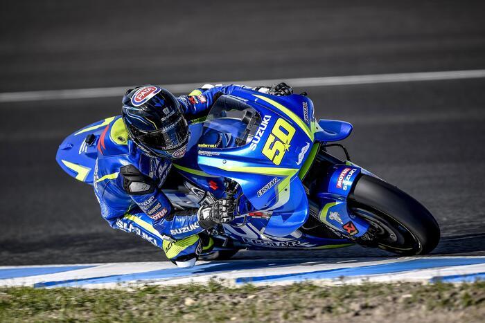 Sylvain Guintoli impegnato nei test di Jerez