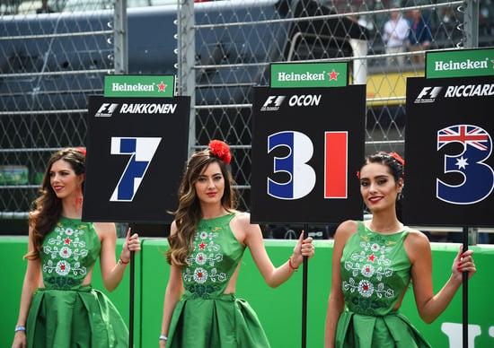 Formula 1, addio alle grid girls nel 2018