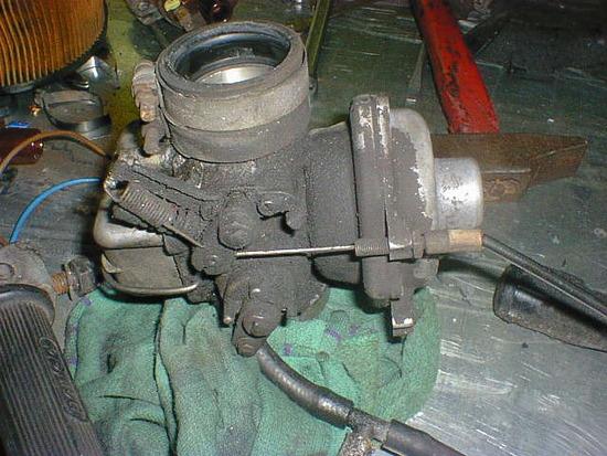 I carburatori prima del restauro