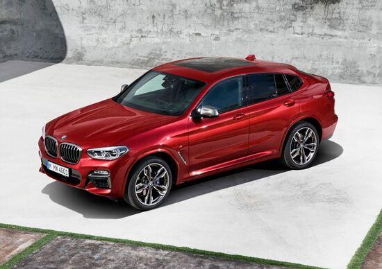BMW X4 2018: prime fotografie e informazioni