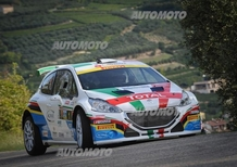 CIR 2015. Rally 2 Valli. Andreucci (Peugeot) e via