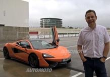 Palmer, McLaren: «Piacere di guida ed esclusività per ogni giorno. Questa è la 570S»