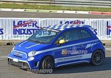 Monza Rally Show 2015: Vale Rossi in ricognizione sulla Abarth 695 Yamaha
