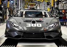 Lamborghini da record, prodotte 300 Huracán da competizione in 36 mesi