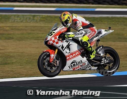 Valentino Rossi, terzo nel Gran Premio d'Australia