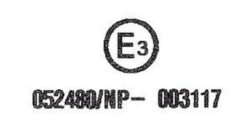 Etichetta omologativa casco