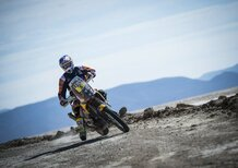 "Dakar 2016. Toby Missile Price (KTM) e ""Peter"" (Peugeot) nel GP di Uyuni"