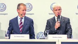 Diess, a sinistra, e Muller