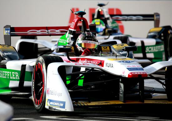 Daniel Abt impegnato nell'ePrix di Roma