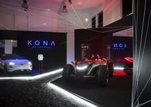 Milano Design Week 2018, Fuorisalone: le luci della Energy Zone Hyundai su Kona Electric