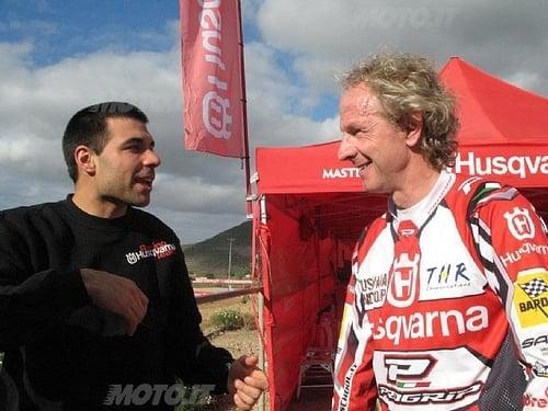 Antoine Meo insieme a Martino Bianchi (direttore sportivo Husqvarna)