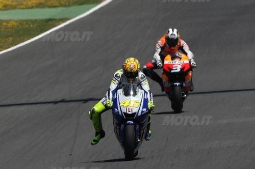 Rossi e Pedrosa