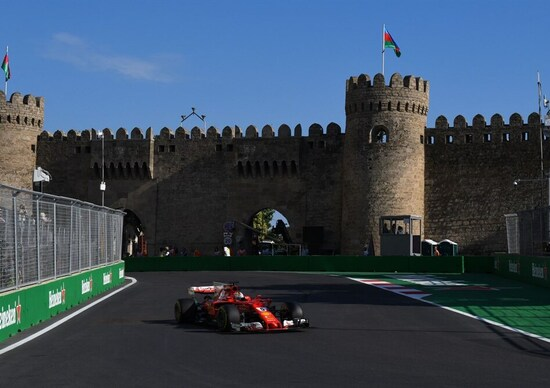 F1, a Baku la Ferrari di Vettel in Pole Position