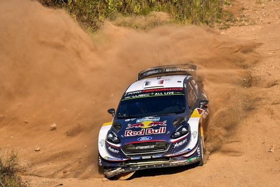 Seb Ogier con la sua Fiesta RS WRC