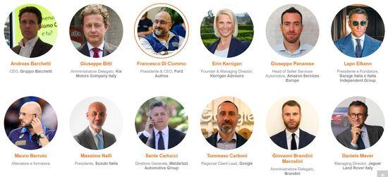 Alcuni dei relatori all'Automotive Dealer Day 2018