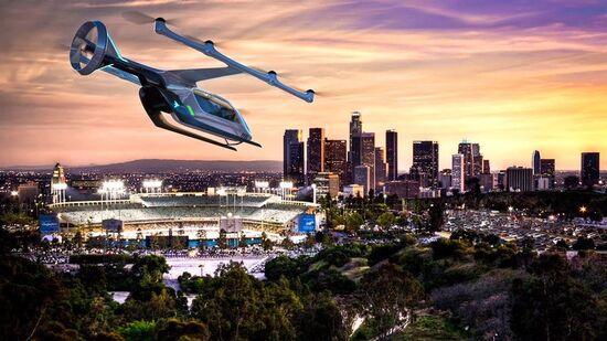 Un primo rendering di taxi volante del futuro
