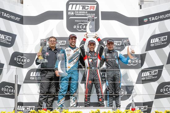 Il podio del WTCR al Nurburgring