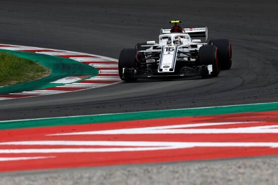 Il monegasco della Sauber, Charles Leclerc, ha concluso la gara a punti in Spagna