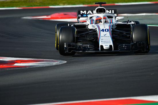 Robert Kubica in pista sulla FW41