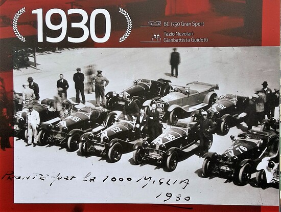 Dominio Alfa Romeo alle edizioni MilleMiglia degli anni Trenta