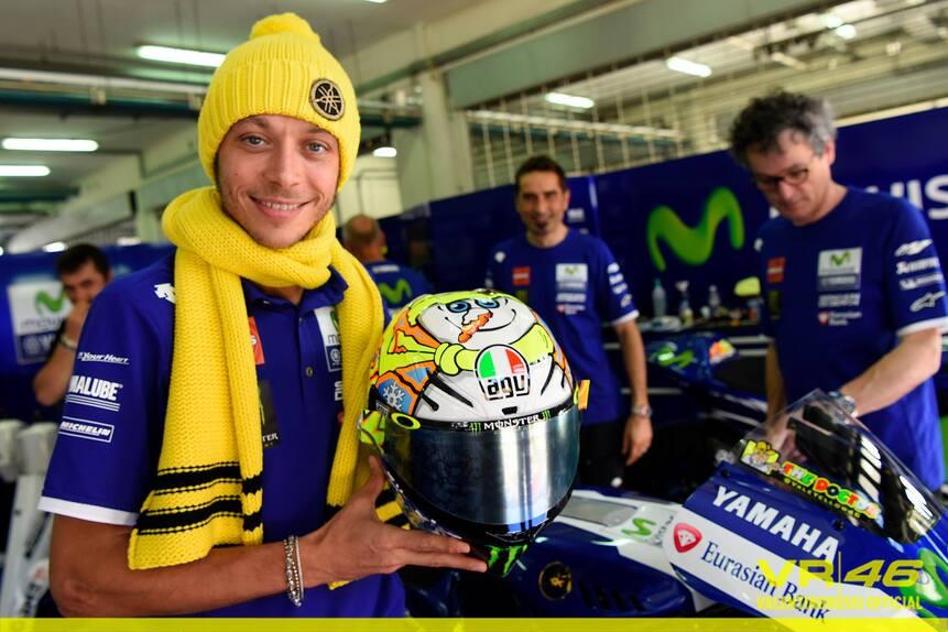 MotoGP. Il casco #SepangTest di Valentino Rossi